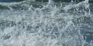 Photo of a wave splashing
