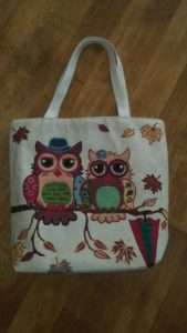 Owl Tote bags for Craft night