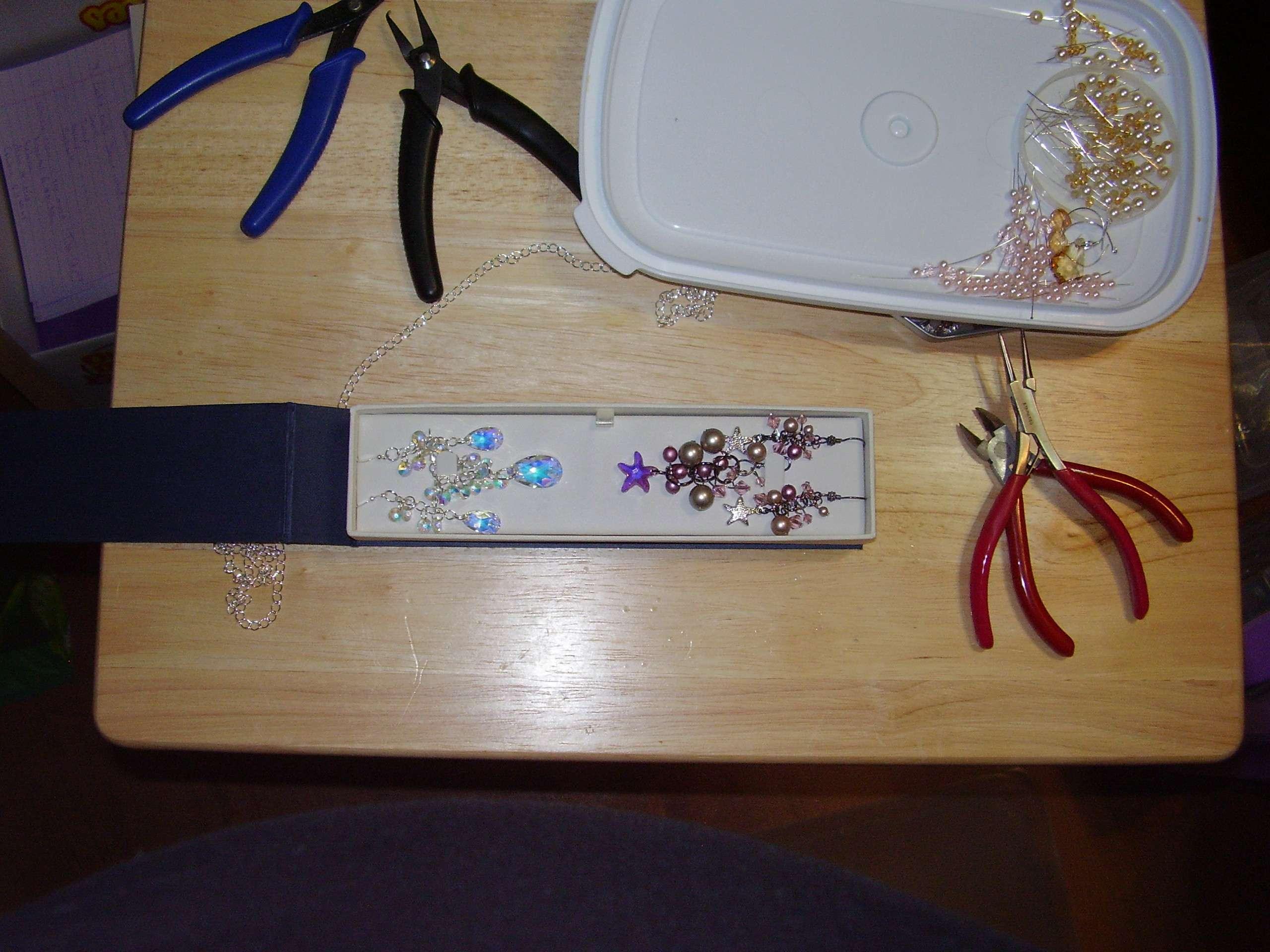 2 sets of earrings and pendants. Custom order.