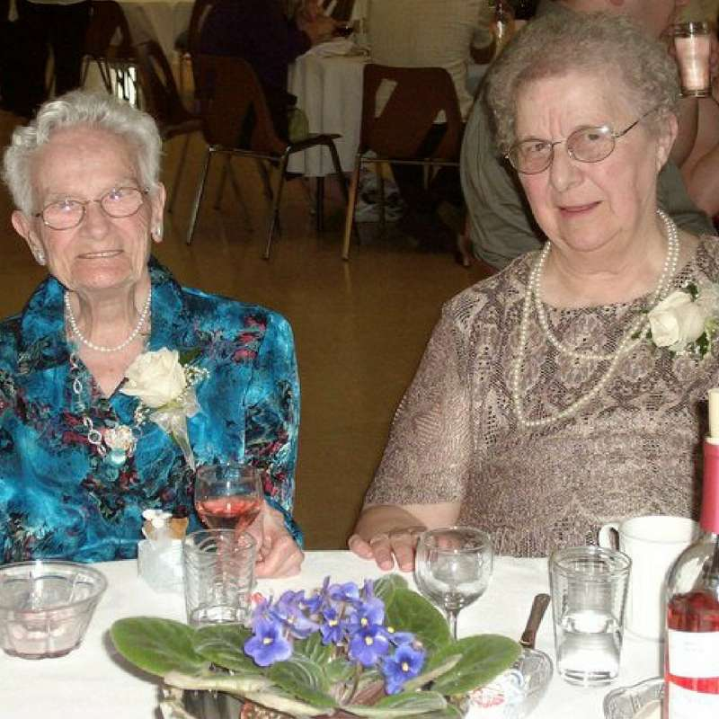 Nanny Webber (left) & Nanny (right) at my wedding reception in September 2010