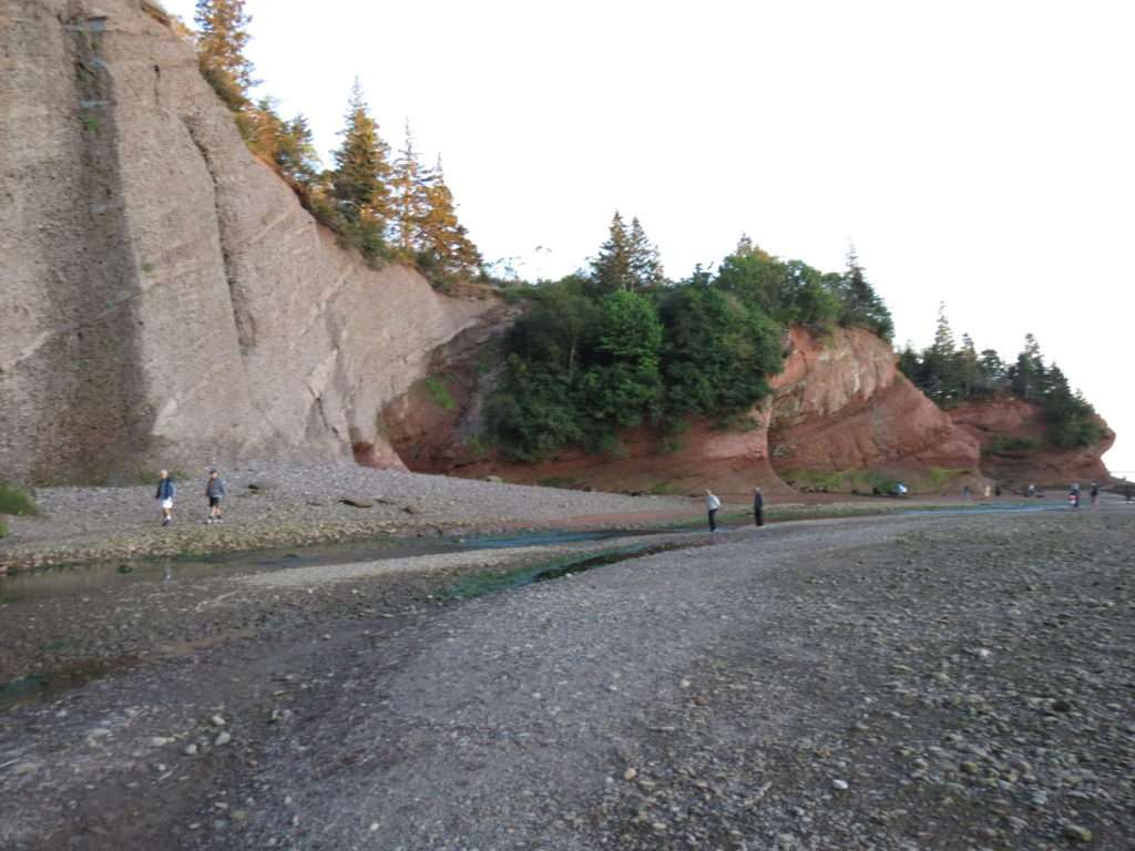 Looking from the beach towards the caves