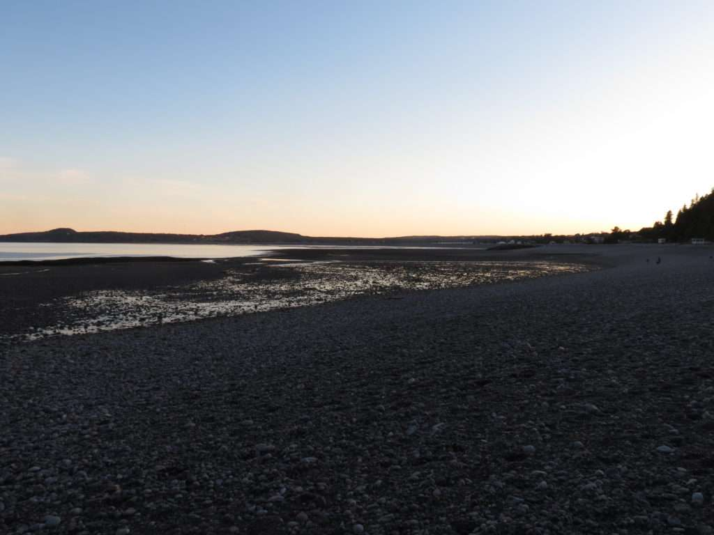 The sunset over The Bay of Fundy.