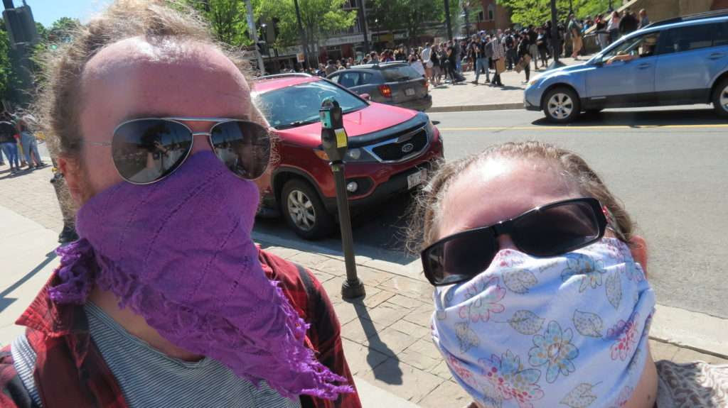My friend & I at the March